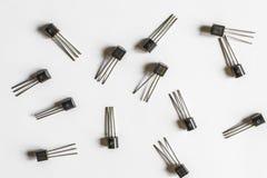 Transistores electrónicos Imagenes de archivo