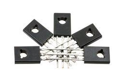 Transistores electrónicos fotografía de archivo