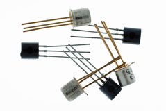 Transistores en blanco imagen de archivo