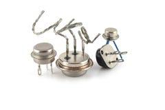 Transistores viejos imagen de archivo libre de regalías