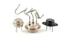 Transistores viejos foto de archivo
