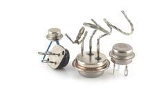 Transistores viejos fotos de archivo