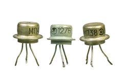 Transistors électroniques de cru d'arbre Photo libre de droits