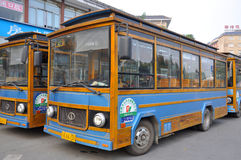 Transit Bus in Chengdu, China Stock Image