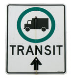 Transit sign Stock Photo