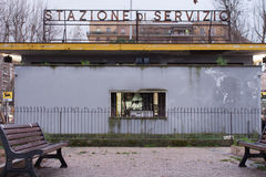 Transit station in rome. An old transit station in rome, italy Stock Image