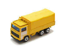 Transit toy van. Yellow transit toy van, isolated on white Stock Image