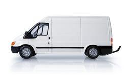 Transit van. White transit van for commercial branding royalty free stock image