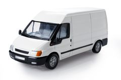 Transit van three-quarter view Stock Photos