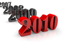 Transition of 2009 to 2010 Royalty Free Stock Images
