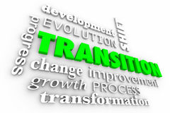 Transition Change Evolution Process Word Collage Stock Photography