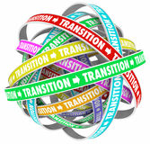 Transition Change Process Evolution Words Loops Royalty Free Stock Image