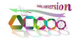 Transition, conversion,way to success. Vector illustration Stock Photos