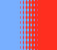 Transition of dots red blue Royalty Free Stock Photo