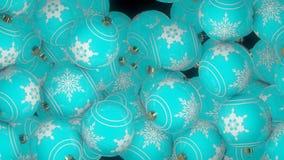 Transition en baisse de boules de Noël banque de vidéos