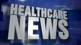 Transition et fond dynamiques d'actualités de soins de santé banque de vidéos