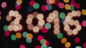 Transition 2016. 4k Transition 2016 on the Christmas theme stock video footage