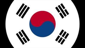Transition 4K de drapeau de la Corée du Sud banque de vidéos