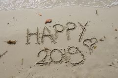 2018/2019 transition - la veille de nouvelles années photo libre de droits