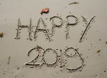 2018/2019 transition - New years eve stock photography