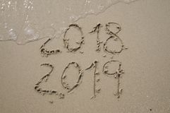 2018/2019 transition - New years eve stock image