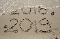 2018/2019 Transition / new years eve stock photos