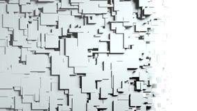 Transition noire et blanche de chiffon d'écran de cubes Photos stock