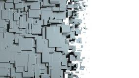 Transition noire et blanche de chiffon d'écran de cubes Photographie stock