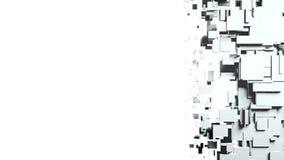 Transition noire et blanche de chiffon d'écran de cubes Photo stock