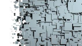 Transition noire et blanche de chiffon d'écran de cubes Photos libres de droits