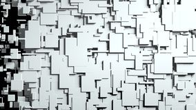 Transition noire et blanche de chiffon d'écran de cubes Image stock
