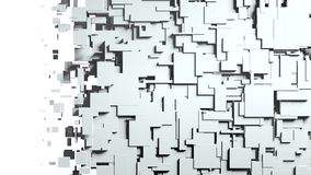Transition noire et blanche de chiffon d'écran de cubes Photo libre de droits