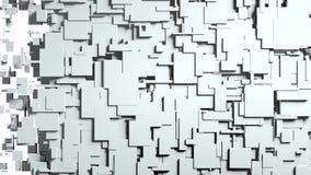 Transition noire et blanche de chiffon d'écran de cubes Photographie stock libre de droits