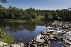 Transition on the river Viskan, Sweden Stock Photo