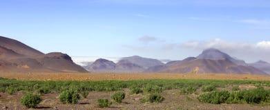 Transition to rocky Desert stock photos