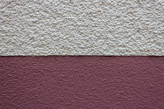Transition white house wall to red housewall texture detail Stock Image