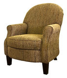 Transitional Style Accent Living Room Chair. In Tweed Fabric Royalty Free Stock Photography