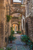 Transitions and abbreviations under the arches in the Italian me Royalty Free Stock Photo
