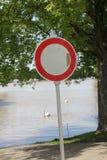 Transito proibito Fotografie Stock
