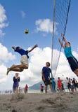Transitoire de volleyball de plage Photographie stock libre de droits