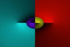 Transizione astratta di colore di pendenza Immagini Stock Libere da Diritti