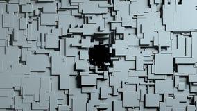 Transizione in bianco e nero della strofinata dello schermo dei cubi Priorità bassa nera Fotografia Stock Libera da Diritti