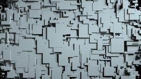 Transizione in bianco e nero della strofinata dello schermo dei cubi Priorità bassa nera Fotografie Stock Libere da Diritti