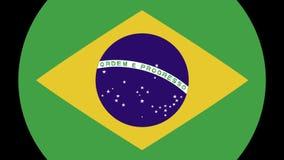 Transizione 4K della bandiera del Brasile stock footage