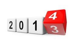 Transizione a partire dall'anno 2013 a 2014 Fotografia Stock Libera da Diritti