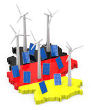Transizione tedesca di energia Fotografie Stock Libere da Diritti
