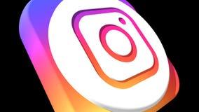 Transizioni sociali Instagram HD di media illustrazione vettoriale