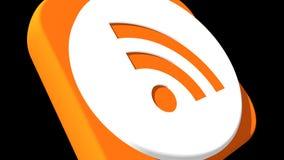 Transizioni sociali RSS 4k di media illustrazione vettoriale