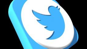 Transizioni sociali Twitter 4k di media illustrazione di stock