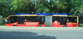 TransJakarta公共汽车 免版税库存图片
